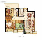 金科世界城3室2厅1卫92平方米户型图