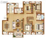 金辉尊域雅苑4室2厅2卫140平方米户型图