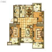 碧桂园银亿・大城印象3室2厅2卫105平方米户型图