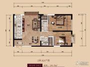 中广宜景湾・尚城2室2厅2卫109平方米户型图