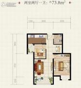 安居・尚美城2室2厅1卫73平方米户型图