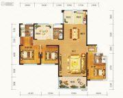 晟通牡丹舸4室2厅3卫233平方米户型图