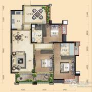 三利云锦3室2厅2卫131平方米户型图