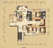 万锦名门4室2厅2卫118平方米户型图