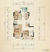 熙岸尚城二期3室2厅2卫98平方米户型图