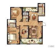 朗诗�园3室2厅2卫135平方米户型图