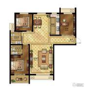 清山公爵城3室2厅2卫136平方米户型图