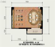 国盛园墅2室1厅1卫44平方米户型图