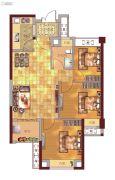 贵安新天地2室1厅1卫76平方米户型图