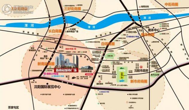 新南站城市广场区位图