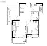 保利鑫城2室2厅1卫80平方米户型图
