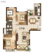 曲靖恒大绿洲3室2厅2卫137平方米户型图