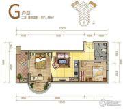 御庭春MOMA白金海岸公寓2室1厅1卫77平方米户型图