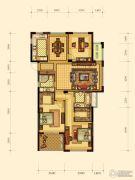 绿都御景蓝湾3室2厅2卫118平方米户型图