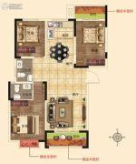 润合花园3室2厅2卫123平方米户型图