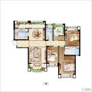 雅居乐・星河湾4室2厅2卫141平方米户型图