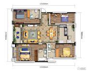万科银海泊岸4室2厅3卫144平方米户型图