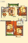 光辉乾城3室2厅2卫116平方米户型图