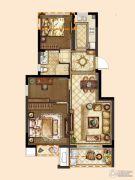 旭辉银城白马澜山3室2厅1卫75平方米户型图