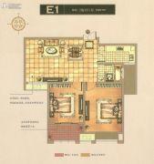 碧桂园梅公馆2室2厅1卫89平方米户型图