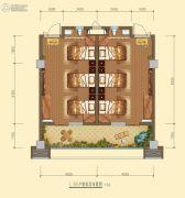 白鹿溪谷2室1厅2卫44平方米户型图