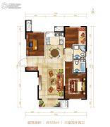 北大资源阅城3室2厅2卫122平方米户型图