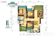 新鸥鹏拉菲公馆3室2厅2卫92平方米户型图