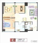 三庆・青年城3室2厅2卫0平方米户型图