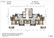 万科翡翠江望4室2厅2卫123平方米户型图