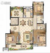 中海寰宇天下3室2厅2卫142平方米户型图