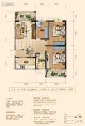 上品・百合园3室2厅1卫129平方米户型图