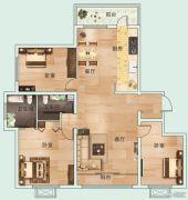 龙泽・金水尚都3室2厅2卫0平方米户型图