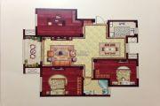 润和・滟澜湾 多层3室2厅1卫117平方米户型图