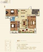 建业壹号城邦3室2厅1卫115平方米户型图