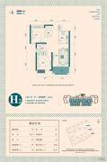 东津世纪城2室2厅1卫83平方米户型图