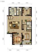 万科城市阳光3室2厅2卫120平方米户型图