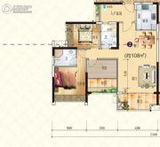 星海湾华庭3室2厅2卫108平方米户型图