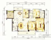 紫园4室2厅2卫165平方米户型图