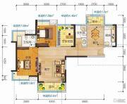 清江润城・悦邸(四期)3室2厅2卫114平方米户型图