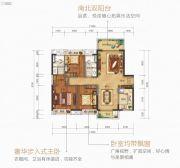 美的公园天下3室2厅2卫115平方米户型图