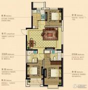 澳海澜庭3室2厅2卫110平方米户型图