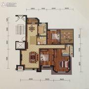 金地艺境3室2厅2卫128平方米户型图