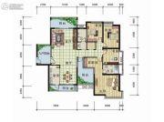 天元翡翠国际4室2厅2卫203平方米户型图