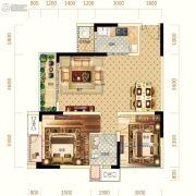 中亿阳明山水1室2厅1卫70平方米户型图