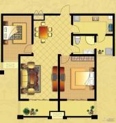 国华御翠园2室2厅1卫108--109平方米户型图