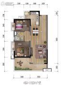 保利中惠・悦城2室2厅1卫0平方米户型图