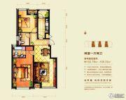 意林・国际公园2室1厅2卫102--108平方米户型图