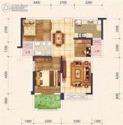 花样年花样城二期3室2厅1卫85平方米户型图