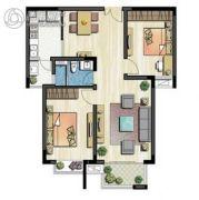 新加坡尚锦城2室1厅1卫92平方米户型图
