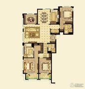 金鼎湾如院4室3厅2卫180平方米户型图